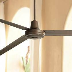 84quot; Industrial Outdoor Ceiling Fan with Remote Large Oiled Bronze for Patio
