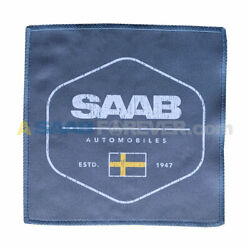 SAAB MICROFIBER TOWEL SMALL WITH SWEDISH FLAG LOGO RARE DEALER GIFT NEW $7.99