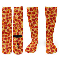 Pepperoni Pizza Knee Socks Footnotes Novelty Socks $14.00
