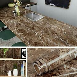 Self Adhesive Marble Wall Paper Roll Kitchen Countertop Peel and Stick Cover New $14.99