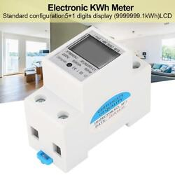 Digital LCD Kwh Wattmeter Power Consumption Energy Meter Electric Din Rail 220V $9.99