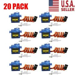 20X 9G SG90 Micro Servo Motor For RC Robot Helicopter Airplane Aircraf Car Boat $33.99