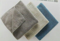 NORWEX Graphite Vanilla Teal 3 Pack BODY CLOTH w BacLock 12.6 X 12.6 $18.97