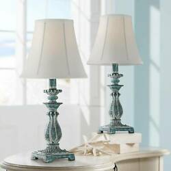 Cali Blue Candlestick Accent Table Lamps Set of 2 $49.99