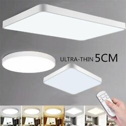 72W LED Ceiling Light Ultra Thin Flush Mount Kitchen Lamp Home Fixture Dimmable