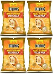 4 Hothands Hand Warmers Value 10 Pack = 40 Total Pair EXP 102023 Safe Heat  $28.88