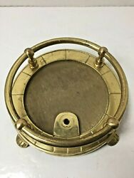 Vintage Brass Fireplace Tool Holder Base Custom Lamp 7quot; Wide 2 1 2quot; Tall Neat $19.79