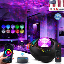 LED Starry Night Sky Galaxy Projector Lamp 3D Ocean Wave Star Light Room Decor $29.99