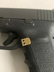 Fits GLOCK GOLD Extended Magazine Release Gen1 2 3 Aluminum SMALL Frame $24.50