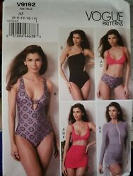 V9192 Vogue Swimsuit Coverup Skirt Pattern Bathing Suit 9192 A5 $22.99