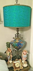 Rare Antique Colossal Brass & Glass Table  Desk Lamp Green .  $3,458.00