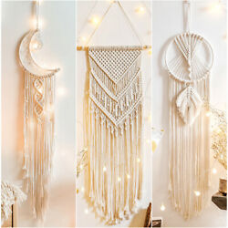 Cotton Handmade Macrame Woven Wall Hanging Tapestry Bohemian Boho Home Art Decor $10.95