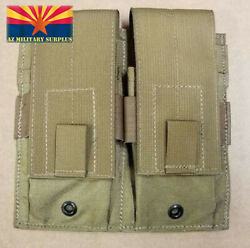 USMC DOUBLE MAG POUCH COYOTE TAN HOLDS TWO 2 USGI 30 RD MAGS NEWFREE SHIPPING $12.99