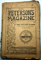 PETERSON#x27;S MAGAZINE 4 1892 Fashion Fiction Fact and Fancy for Victorian Women $12.90