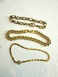 Vintage Lot of 3 Gold Tone Bracelets $8.99