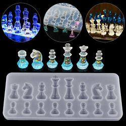 DIY Silicone Resin Chess Mold Jewelry Pendant Making Tool Mould Craft Handmade $6.97