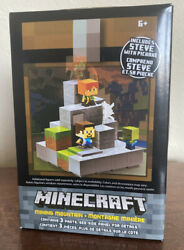 Minecraft Cave Biome Collection 1 Mining Mountain Steve With Pickaxe RARE New $27.28