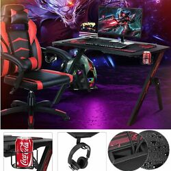 Gaming Desk Home Office Computer Table Ergonomic Racing Style Gamer Student Play $119.99