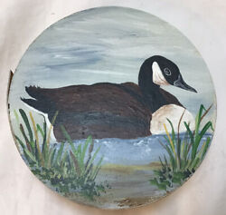 Shaker Style Vintage Box Hand Painted With Goose $10.00