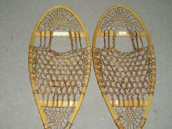 Bear Paw Snowshoes leather wood 13 x 26 $75.00