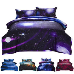 Galaxy Comforter Set Reversible Quilt Sky Outer Space Bedding Twin Full Queen $37.55