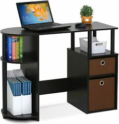 Modern All In One Home Office Computer Desk w 4 Storage Shelves  $124.99