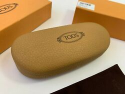 Case Tods Sunglasses Leather Tod S Glasses Hard Tods Tod's Eyeglass Brown $32.00