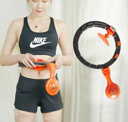 Smart hula hoop auto spinning Timer Fitness Lose weight Fat Burning Exercise Bel $32.11