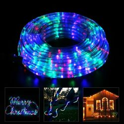 Indoor Outdoor Remote Flexible Multi Color LED Rope Strip Light 4 Mode Lights $35.86