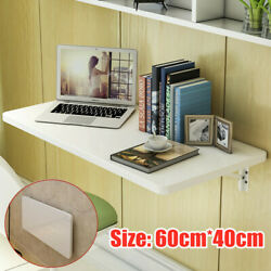 White Wall Mount Floating Folding Computer Desk Home Office PC Table 60cm*40cm $79.99