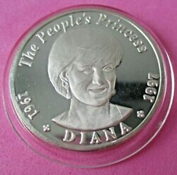 DIANA THE PEOPLE'S PRINCESS VINTAGE 1997 PROOF 500 KWACHA 999 SILVER COIN KM #53 $34.99