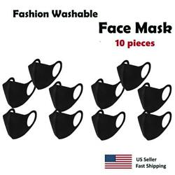 10 pack - Black Face Mask  Washable Reusable Unisex Free Same Day Shipping $10.99