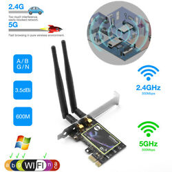 Wireless Dual Band 2.4G 5G PCIE WiFi Adapter Network Card for Desktop Computer $14.99