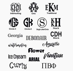 Monogram Custom Made Vinyl Decal • Custom amp; PERSONALIZED FOR YOU $3.00