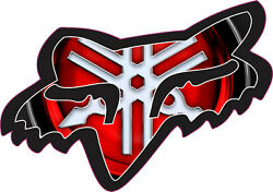X2 Fox Motocross Racing Sticker Decal Window Wall Bike Bottle Yamaha RZR Honda $3.99