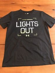 UNDER ARMOUR Loose Heat Gear Shirt Youth Large Lights Out