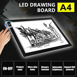 A4 LED Tracing Light Box Board Art Tattoo Drawing Copy Pad Table Stencil Display $15.99