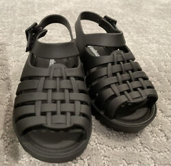 Mini Melissa Mini Francxs Sandal Matte Black Toddler Girls Size 8 $34.00