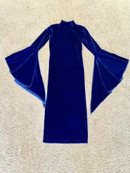 Tracy N Collection Designer Velvet Royal Blue Party Cocktail Dress size XXS XS $28.99