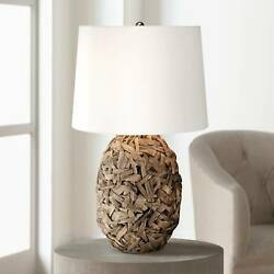 Tropical Table Lamp Natural Seagrass for Living Room Bedroom Bedside Nightstand $69.95