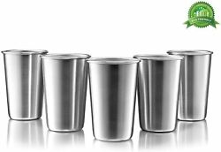 Stainless Steel Pint Cups Set of 5 16 oz BPA free $17.42