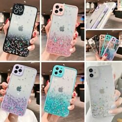 Cute Bling Glitter Clear Case Girls Cover for iPhone 12 Pro Max 11 8 Plus XR XS $7.95