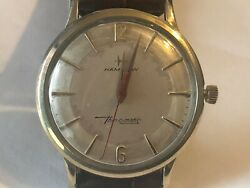Nice Vintage Hamilton Thin-o-matic  Wrist Watch-1960's! Gold Filled Case $95.99