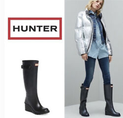 HUNTER Original Refined Mid Wedge Rubber Boot $110.00