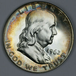 Toned Cameo Proof 1962 Franklin Half Dollar $19.99