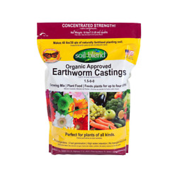 Pure Organic Earth Worm Castings 10 lb.Bag Concentrated 10 lbs. makes 40 lbs. $23.85