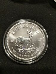 2020 South Africa Silver Krugerrand 1 oz INCLUDES AIR-TITE 1 Rand bullion coin $36.25
