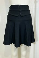 NEW Black Mini Skort Skirt With Attached Shorts Size LARGE $12.89