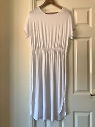 ASOS White Jersey T-Shirt  Sun Dress UK Size 16 Beach  Holiday $17.01