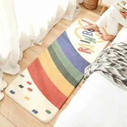 Colorful Floor Mat with Graphic Printed Rainbow Cheerful Bright Floor Mat $30.52